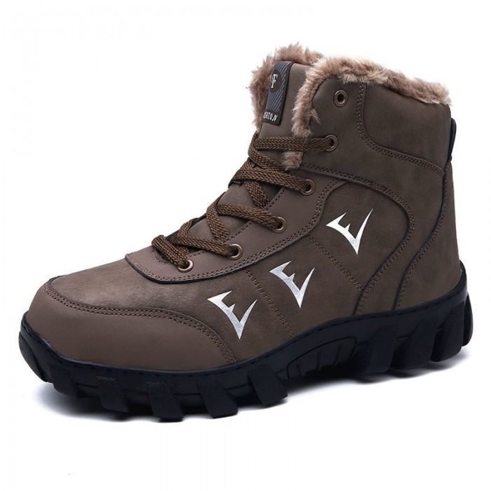 Warm Lightweight High Top Hiking Boots Anti Odor Lace Up / Slip On Style