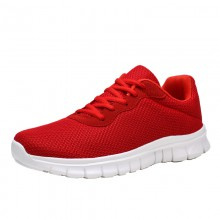Mesh Upper Lightweight Breathable Hiking Shoes Red Color Comfortable