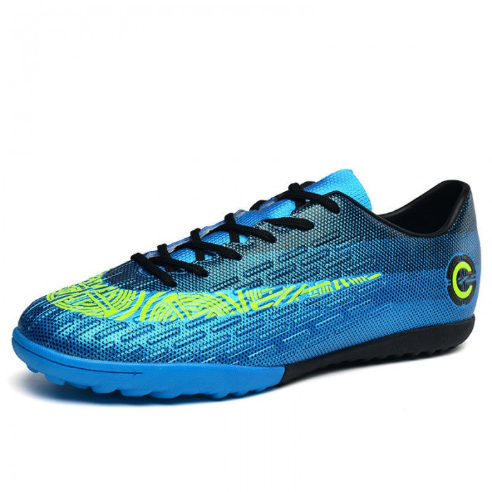 Soft Breathable Soccer Cleats With Rotational Traction Configuration