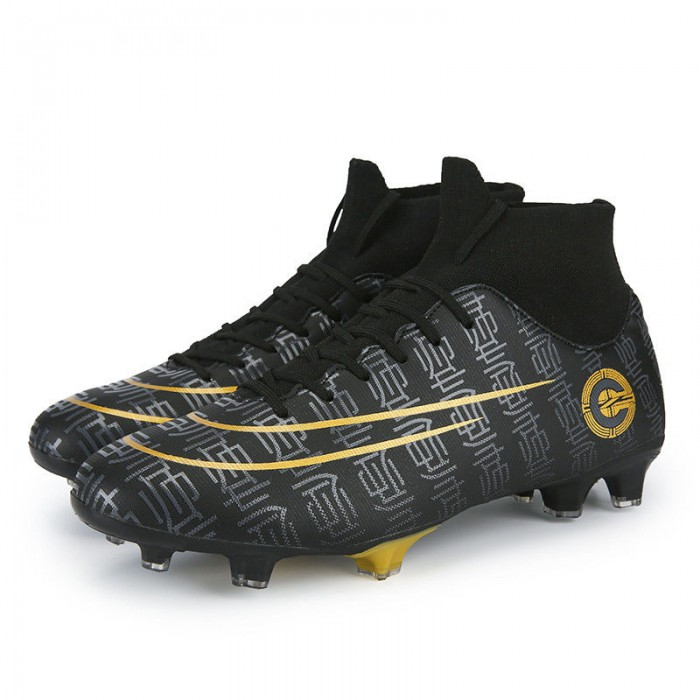 Boy's Athletic Comfy Football Boots , Lightweight Soccer Cleats Breathable
