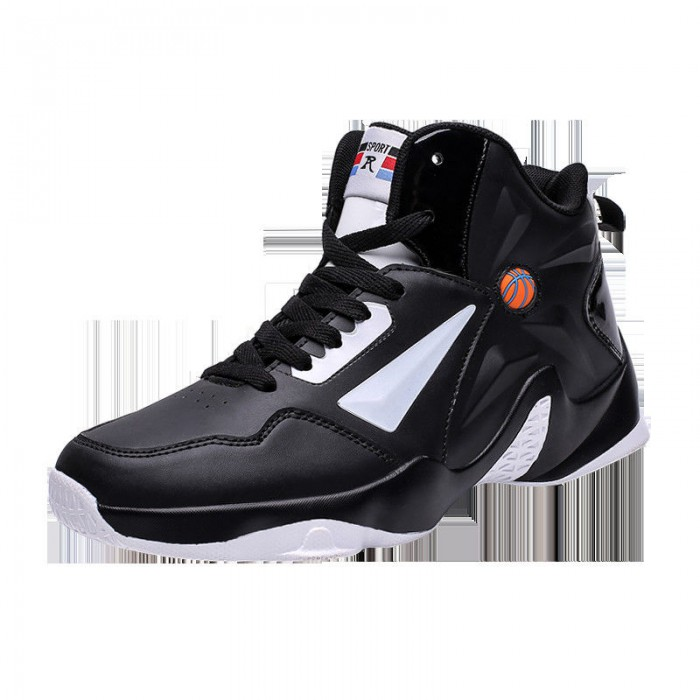 Non Slip Mens Basketball Sneakers High Neck Shock Absorption Abrasion Resistant