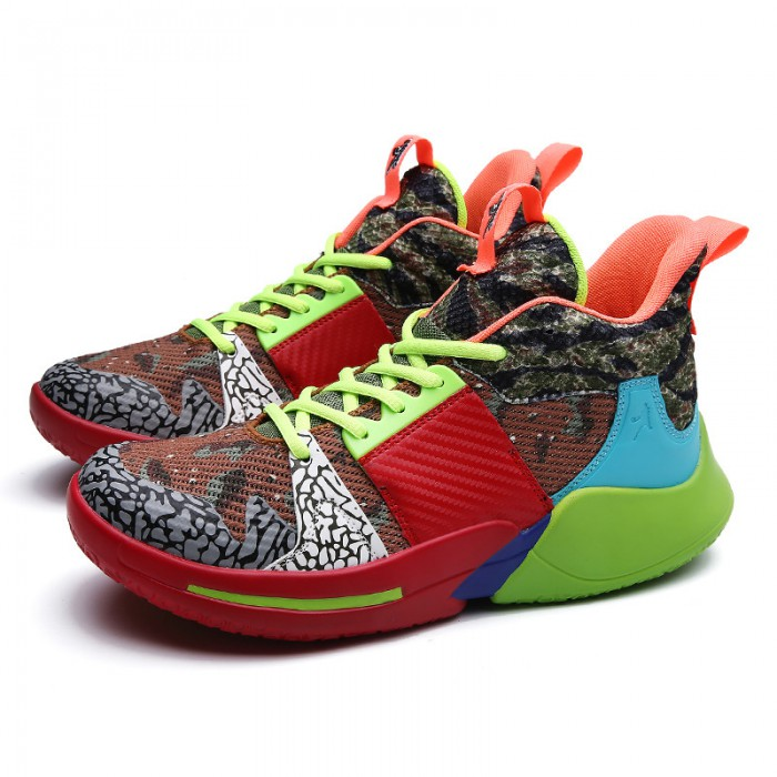 Synthetic Lining Anti Slip Basketball Shoes , Women / Man Comfy Basketball Shoes