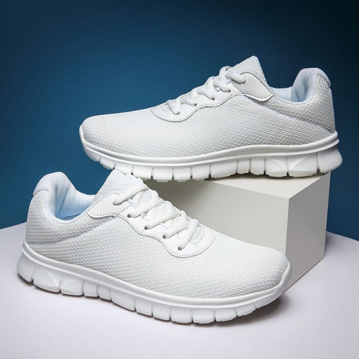 White Color Comfortable Running Trainers Hard Wearing Excellent Slip Resistance