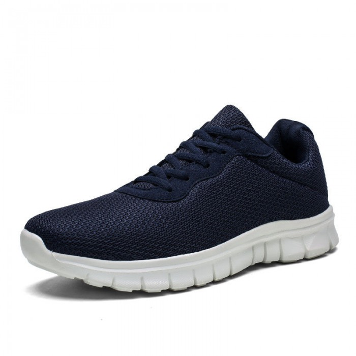 Wear Resistant Comfortable Black Running Shoes Customized Logo Accept