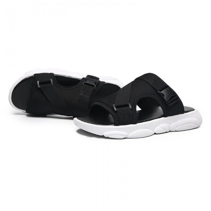 Leather Male Slippers And Sandals Synthetic Leather Strap For Durability