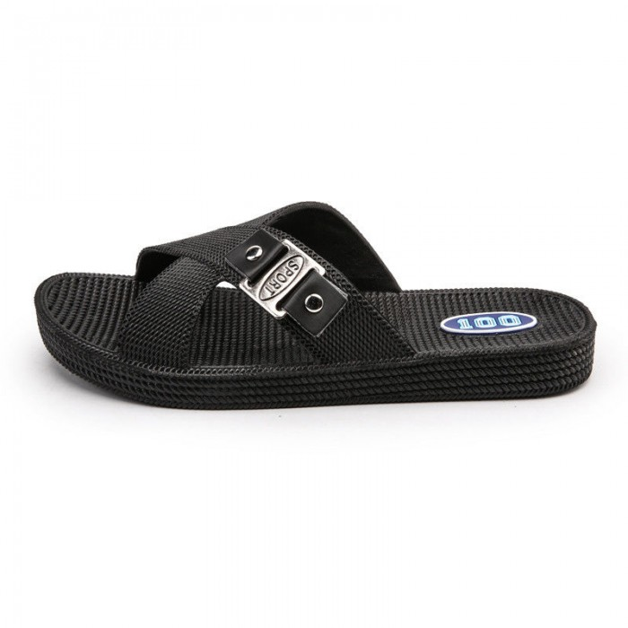 Anti Collision Leather Slippers And Sandals Excellent Slip Resistance