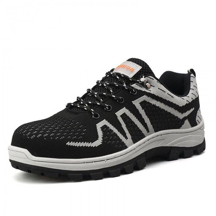 Cotton Lining Safety Footwear Trainers , Men Sport Style Safety Shoes