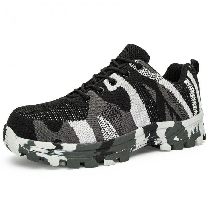 Indoor Outdoor Safety Footwear Trainers , Athletic Safety Shoes OEM ODM Supported