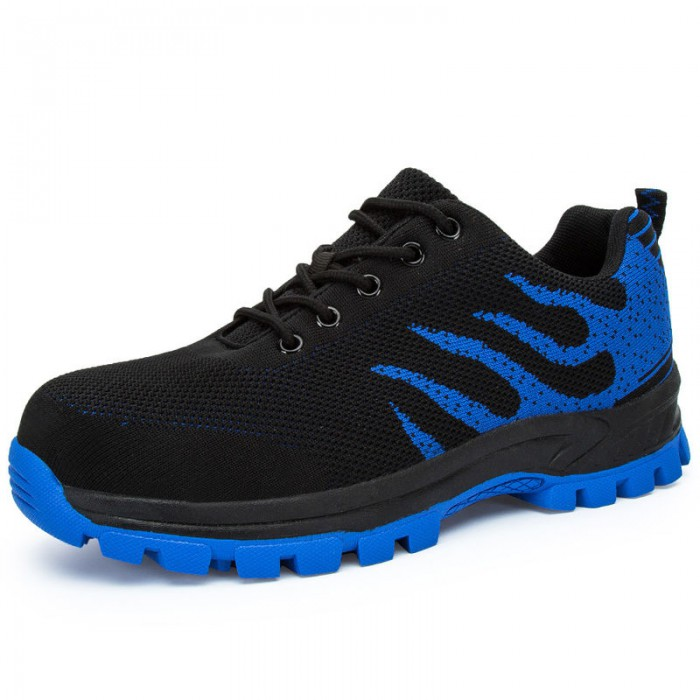Anti Slippery Safety Running Shoes Breathable Lightweight Mesh Upper