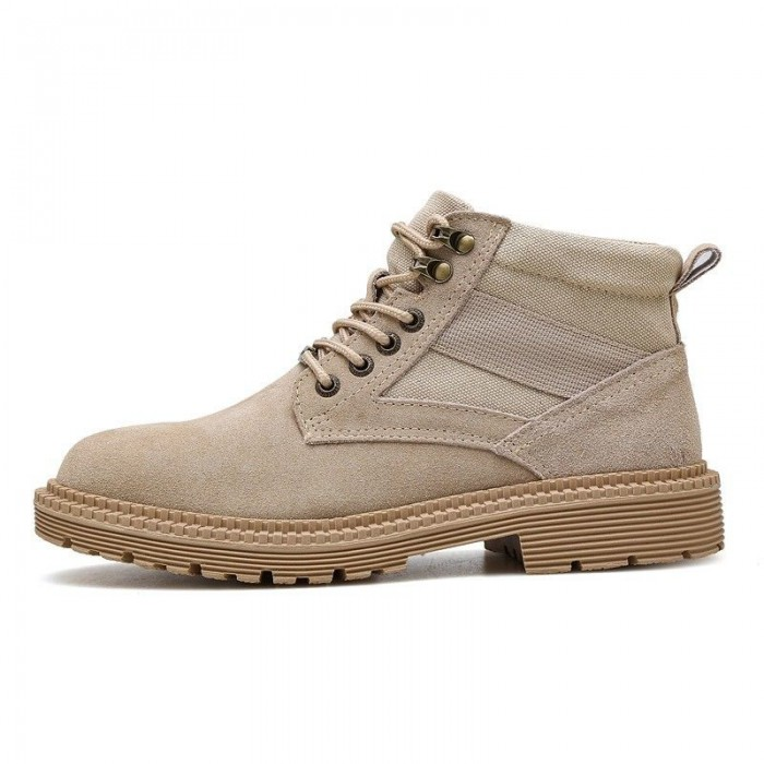 Great Fashion Athletic Style Work Boots Black Brown Khaki Three Colors Optional