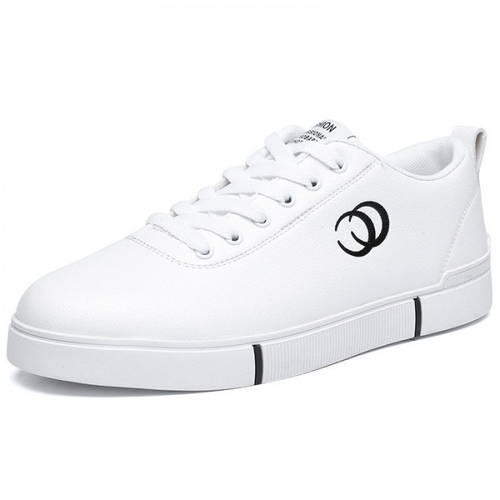White Casual Badminton Footwear Hard Wearing Anti Skid Bottom With Flexible Grooves