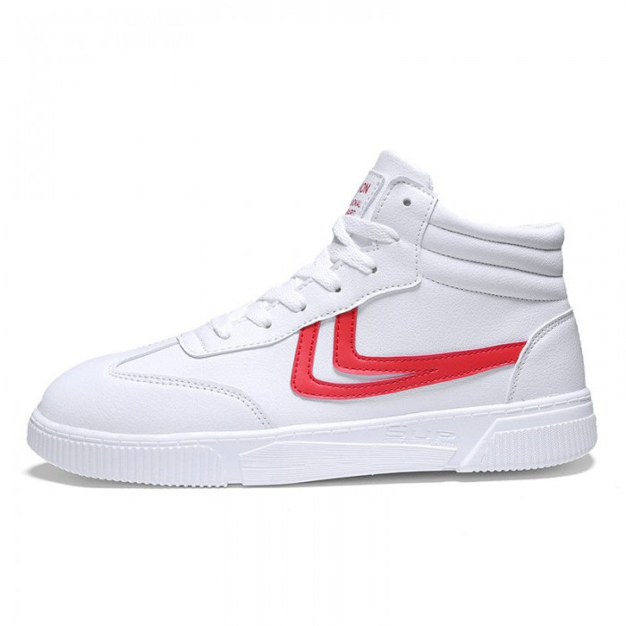 White Super Light Basketball Shoes High Flatness Seamlessly Fitted Upper