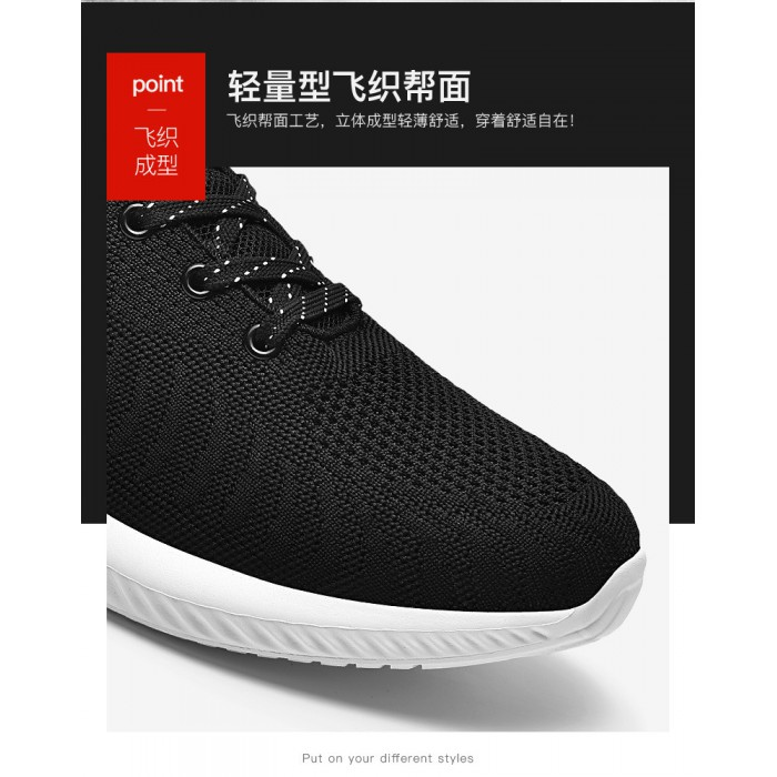 Lace Up Casual Sports Shoes Breathable Mesh Upper Comfort Foot Environment