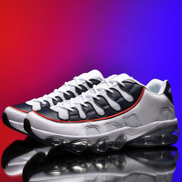 Size 39-44 Male Casual Sports Shoes , Breathable Sports Shoes PU Cloth Upper