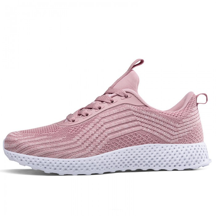 Pink Color Casual Sneakers Ventilating Shoes Insole Comfort Foot Environment