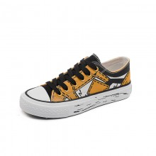 Ladies Canvas Sports Shoes , Casual Flat Canvas Shoes Cotton Fabric Lining