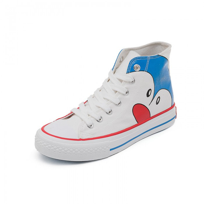 Cartoon Pattern High Canvas Sneakers Fashion With SGS Certification