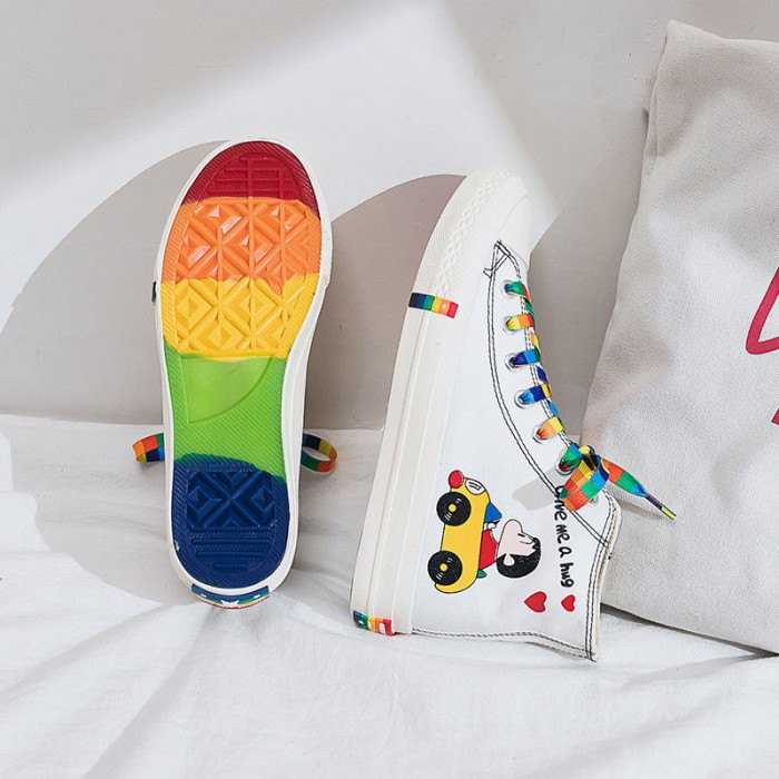 Anti Slippery Breathable Canvas Shoes 3CM Soles Height Sweat Absorbant