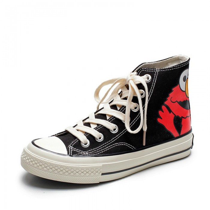 Fashion Casual Canvas Sneakers High Top Cotton Fabric Lining Material