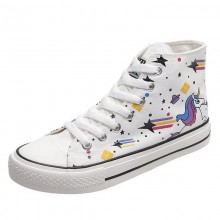 High Top Canvas Sports Shoes Anti Slippery Cotton Fabric Lining Material