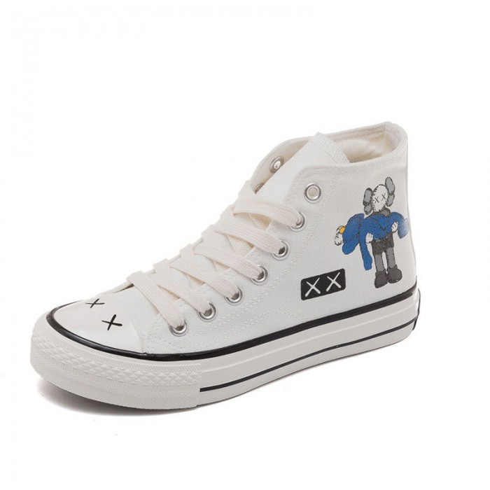 High Top Canvas Sports Shoes , Girls Black Canvas Shoes Sweat Absorbant