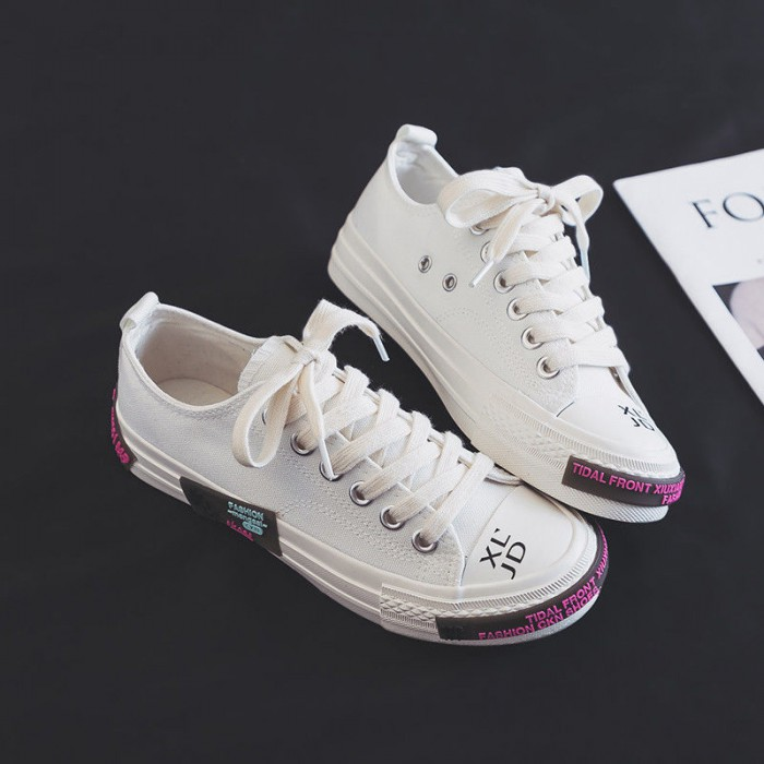 35-41 Size Breathable Canvas Shoes EVA Insole 3CM Soles Height Comfortable