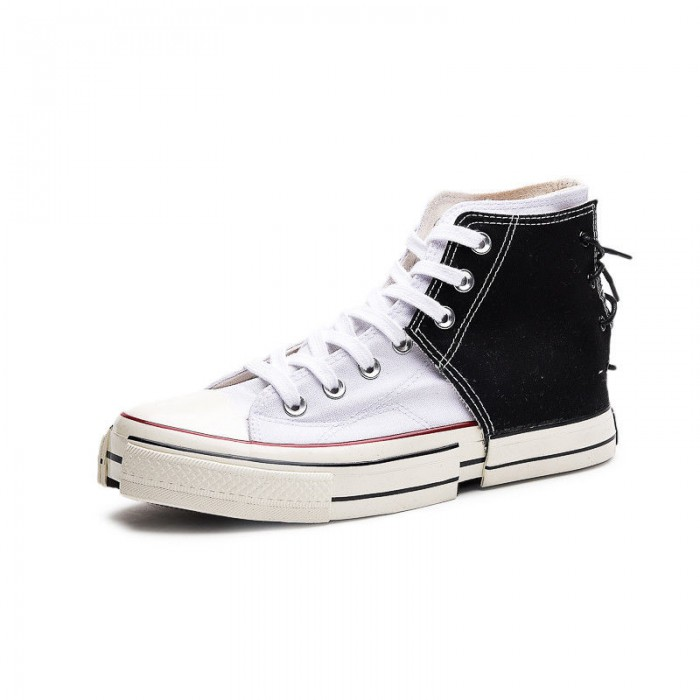 Lace Up High Top Canvas Shoes Cotton Fabric Upper